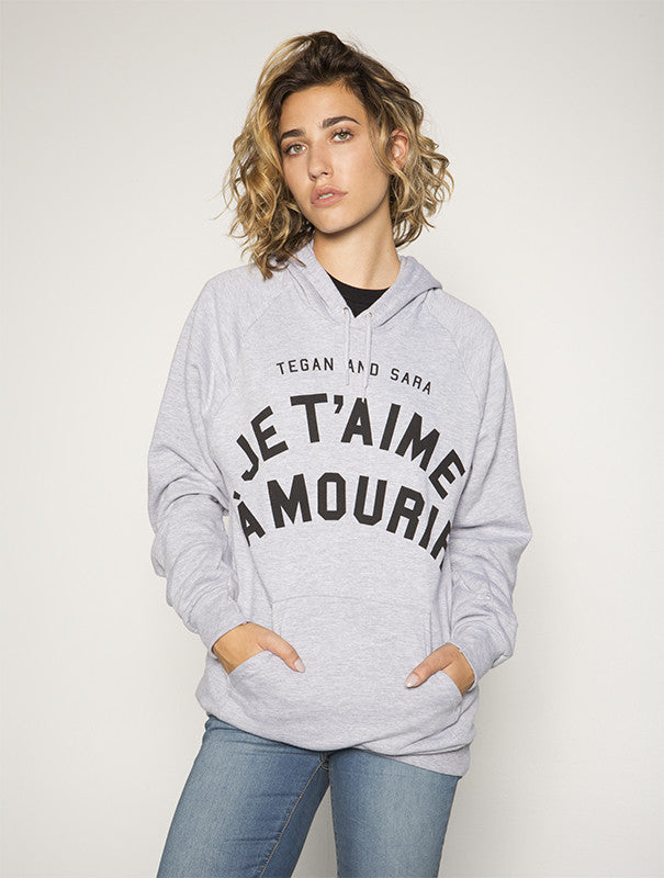 Love You French Pullover Hoodie (Heather Grey)