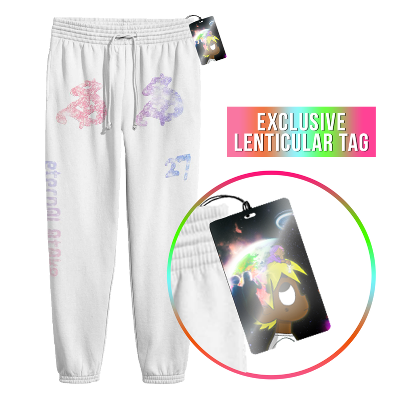Eternal Atake Sweatpants with Exclusive Lenticular Tag (White)