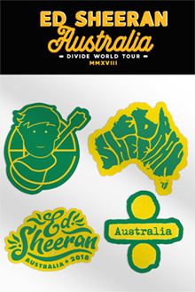 Ed Sheeran Australia Sticker Set