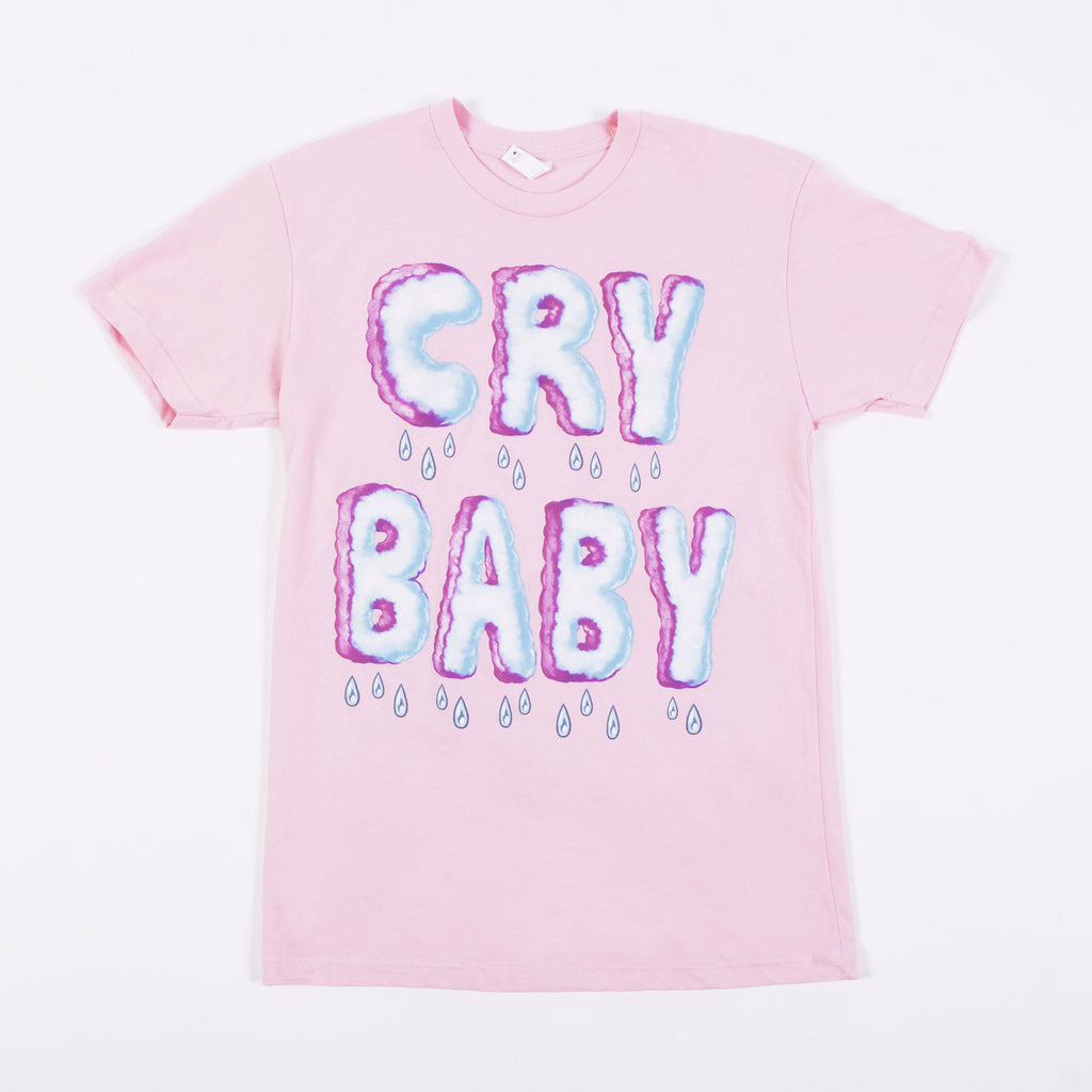 Crybaby Clouds (Pink Tee)