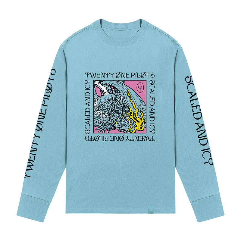 twenty one pilots dragon box long sleeve scaled and icy