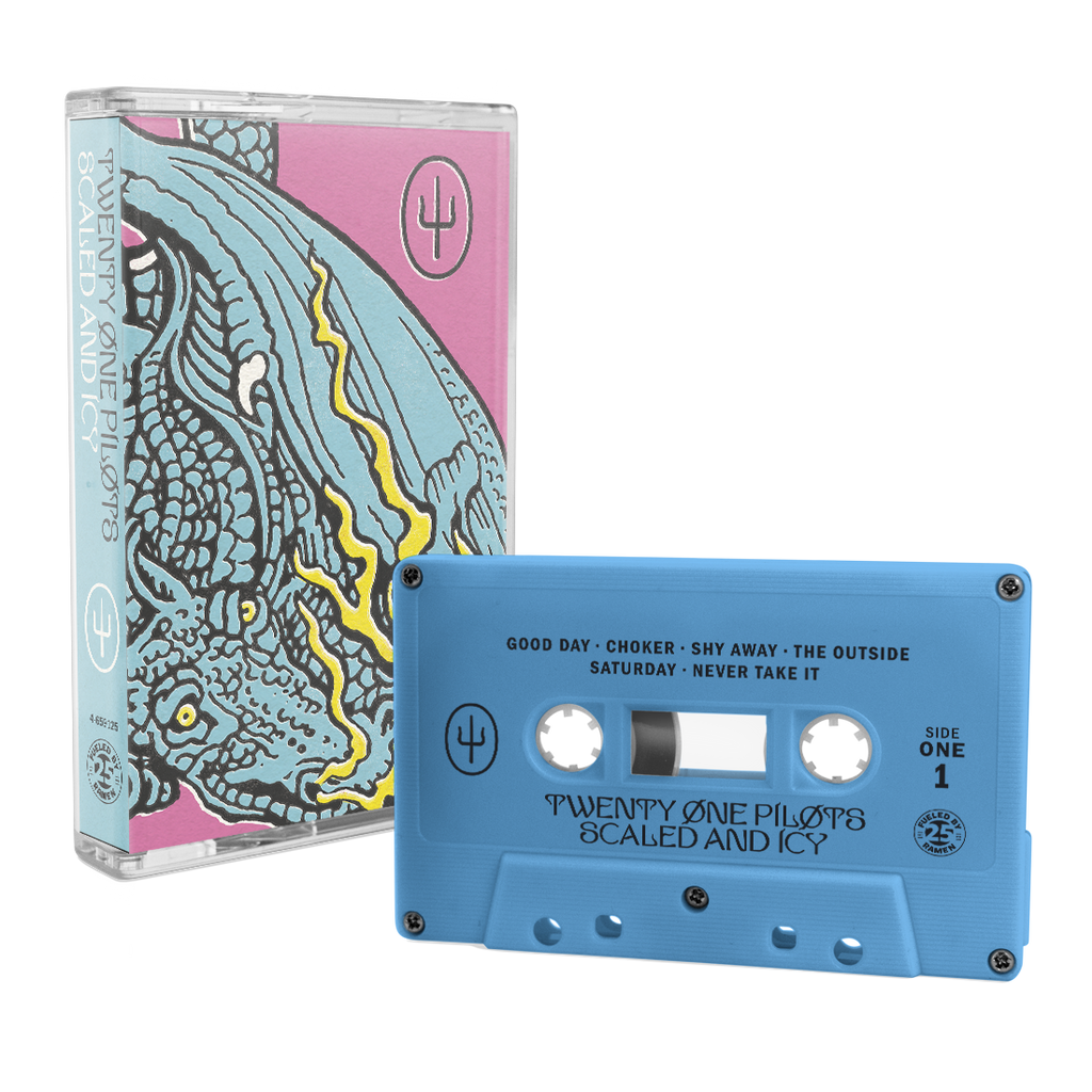 twenty one pilots scaled and icy blue cassette