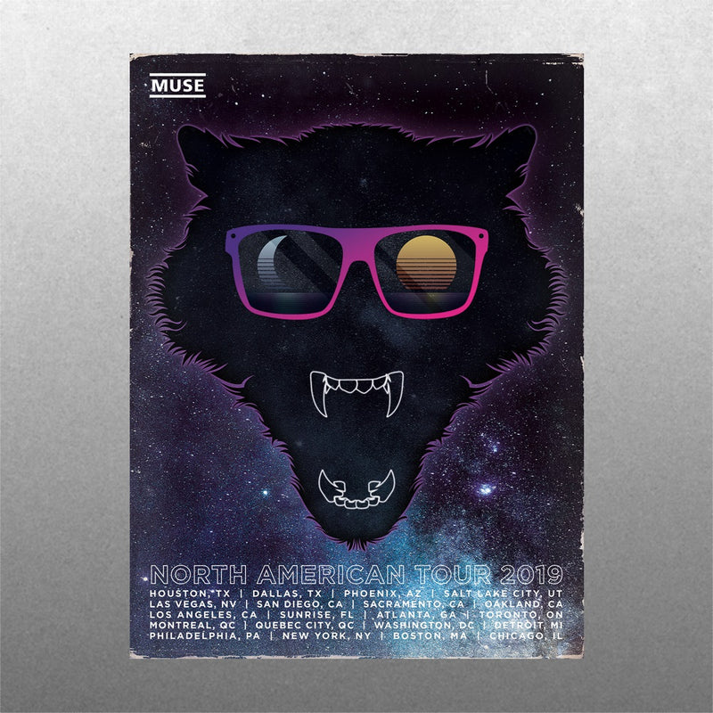 North American Space Wolf Poster