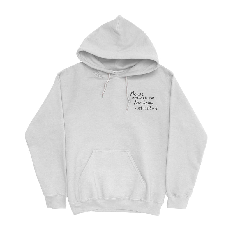 Please Excuse Me Hoodie (White) + Digital Album
