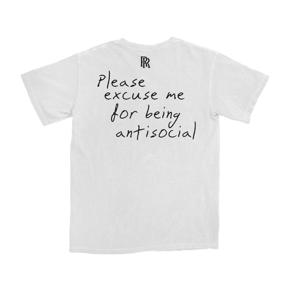 Please Excuse Me T-Shirt (White) + Digital Album