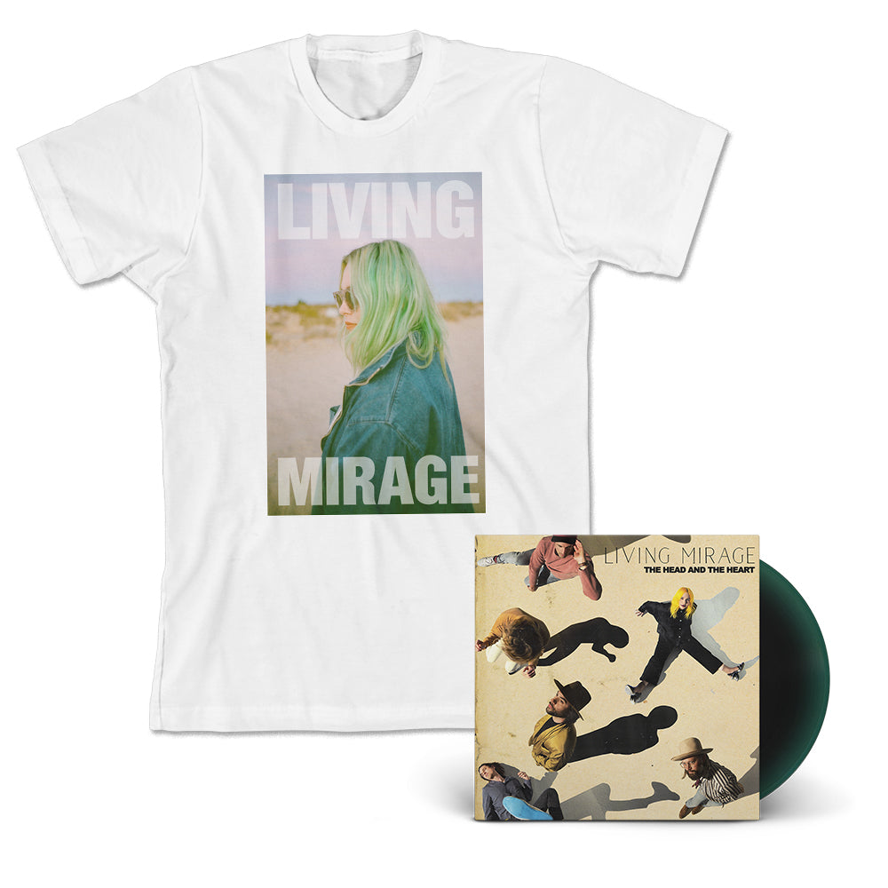 Living Mirage T-Shirt + Album Bundle (Limited Signed Booklet)