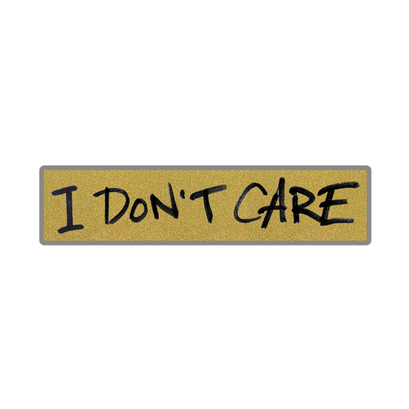 I Don't Care Enamel Pin (Gold) (Includes Track Download)
