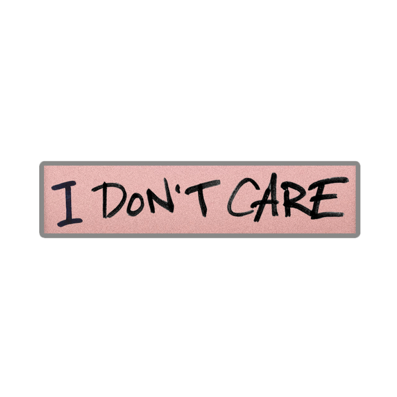 I Don't Care Enamel Pin (Pink) (Includes Track Download)