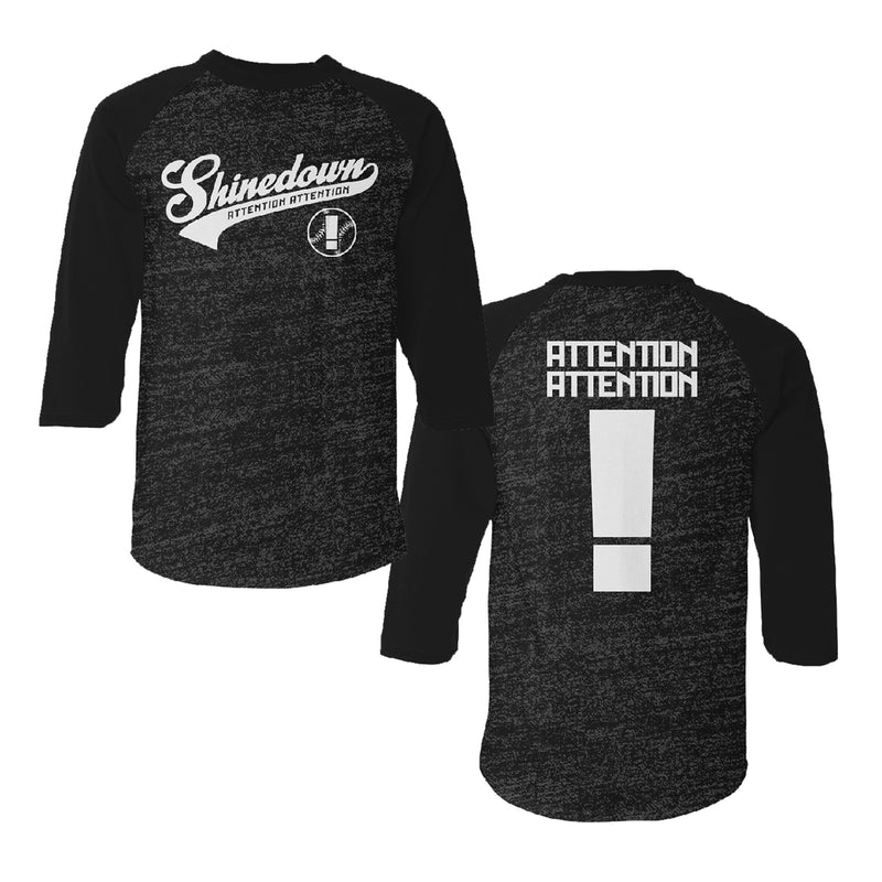 Shinedown - Attention Attention Raglan T-Shirt