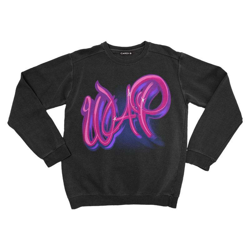 WAP Air Brush Crewneck (Black) + Digital Single