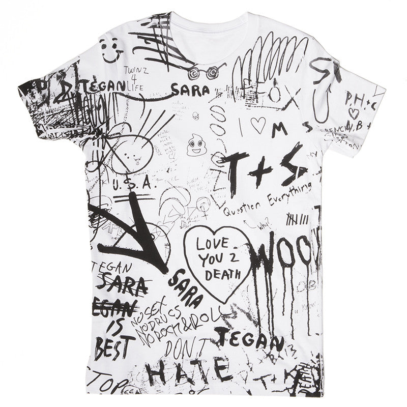 Bathroom Graffiti Tee (White)