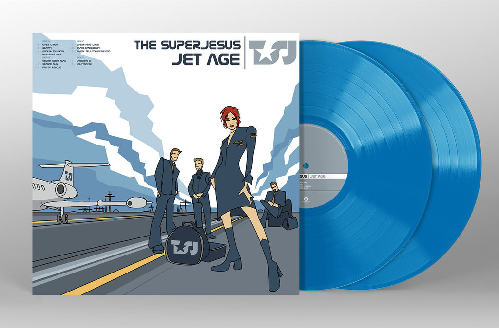 The Superjesus Jet Age Blue Vinyl Cover