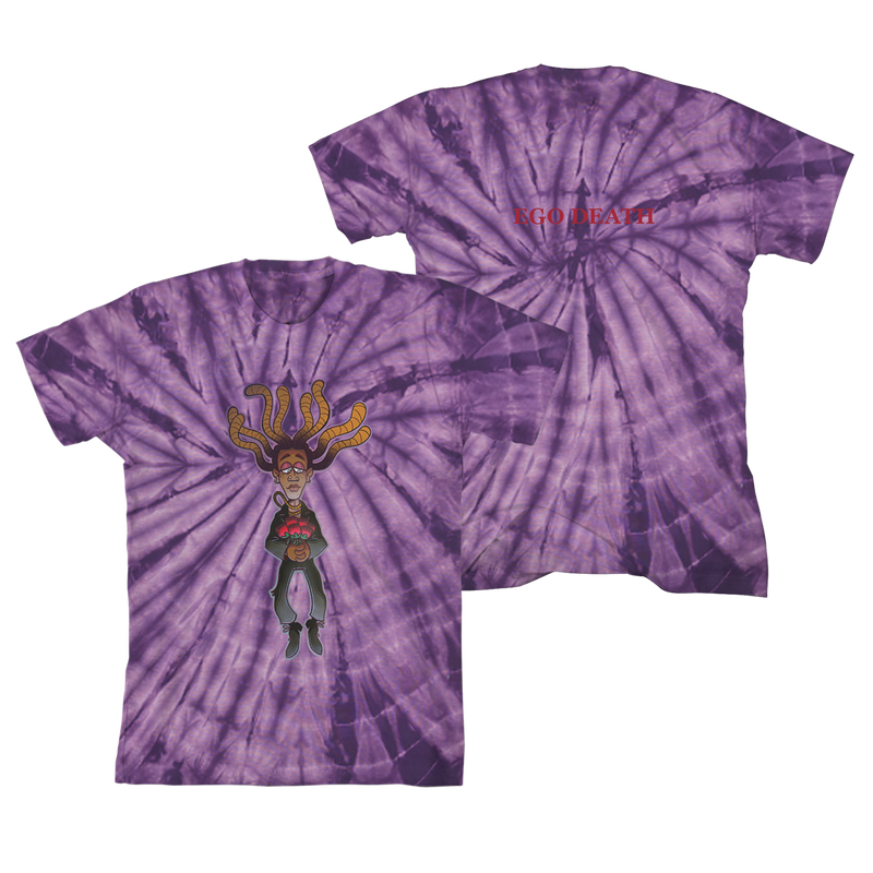 Ego Death Purple Ty Dye T-shirt