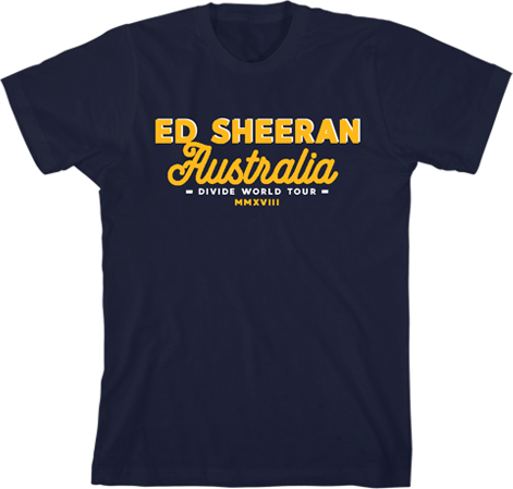 Ed Aus Lock Up Navy Tee