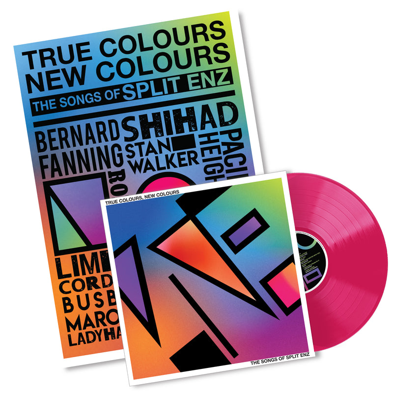 True Colours, New Colours - Pink Vinyl + A2 Tribute Poster