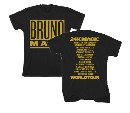 Block Bruno with Tour Dates T-Shirt