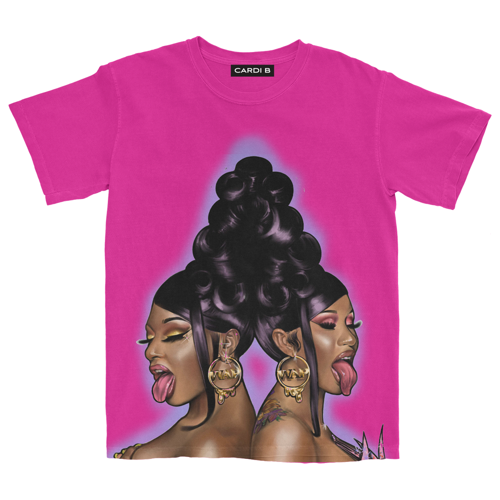 WAP Air Brush T-Shirt (Pink) + Digital Single