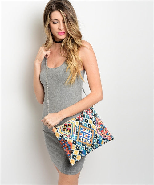 Colorful Aztec Inspired Clutch
