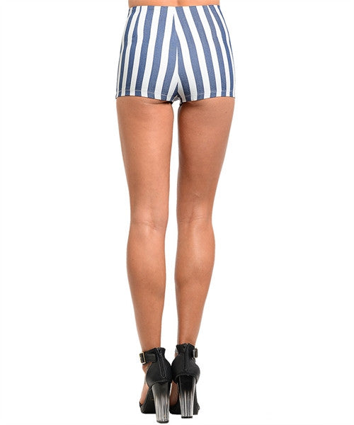 Blue and White Nautical Shorts