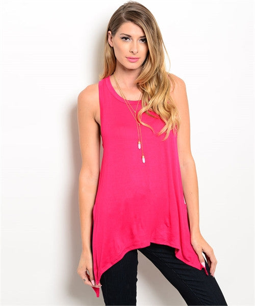 Hot Pink Tunic Top
