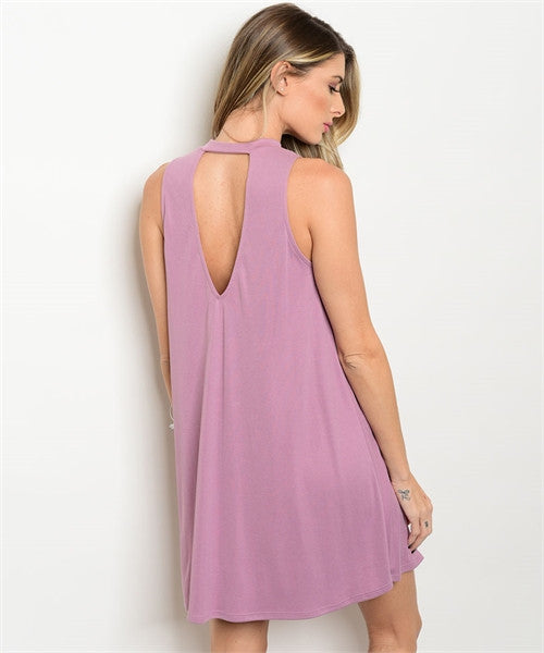 Lavender Mock Neck Dress
