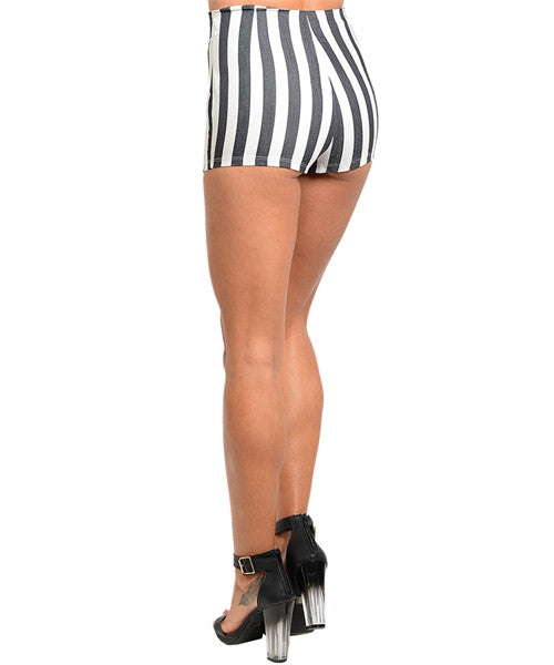 Black and White Nautical Shorts