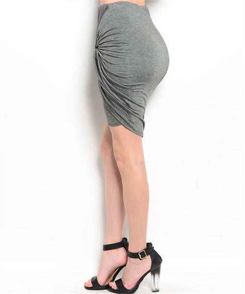 Fitting Charcoal Skirt