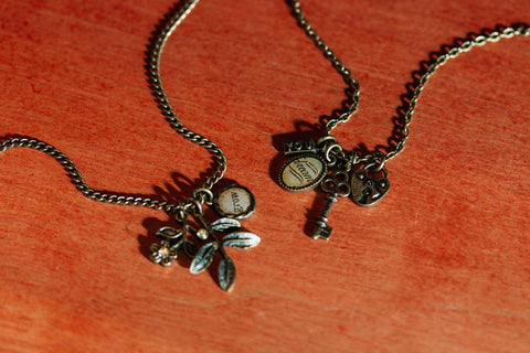 Charm Necklaces from Elements by Jill Schwarts