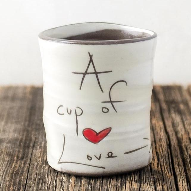 ZPots Home Accents A Cup of Love Ceramic Cup