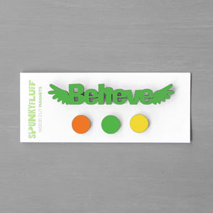 Spunky Fluff Proudly handmade in South Dakota, USA Everyday Brights Believe-Tiny Word Magnet Set
