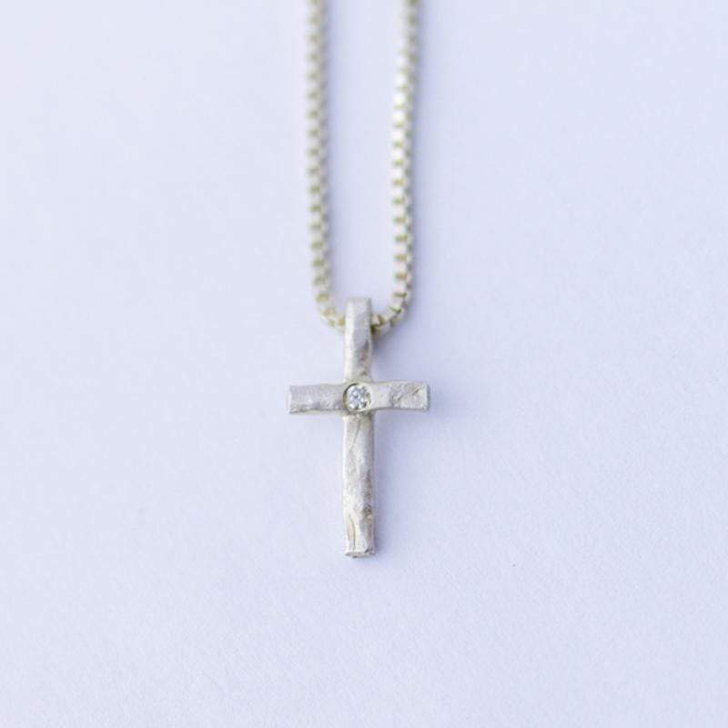 Saundra Messinger Proudly Handmade in Tennessee, USA Diamond Cross Necklace