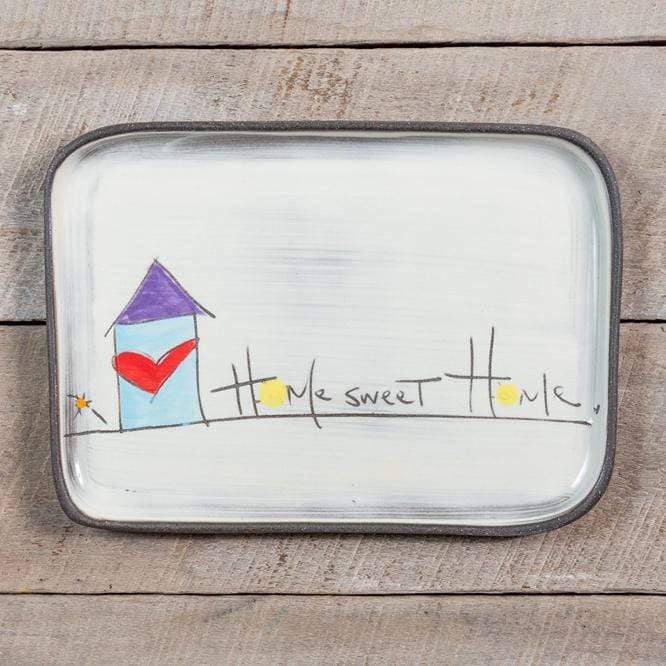 "ZPots Home Accents ""Home Sweet Home"" Home Sweet Home Ceramic Rectangle Plate"