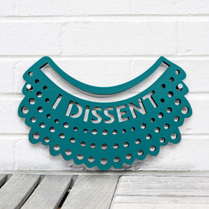 Spunky Fluff Proudly handmade in South Dakota, USA Small / Teal I Dissent-RBG