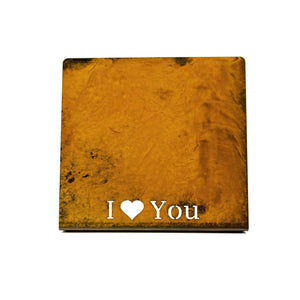 "Prairie Dance Proudly Handmade in South Dakota, USA ""I love you"", Magnetic Frame"