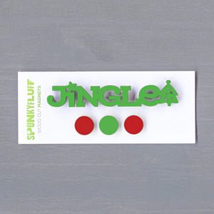 Spunky Fluff Proudly handmade in South Dakota, USA Christmas Traditional Jingle-Tiny Word Magnet Set