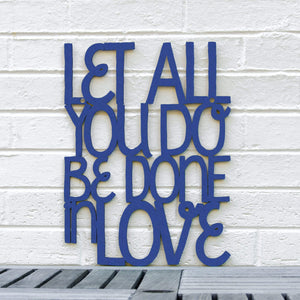 Spunky Fluff Proudly handmade in South Dakota, USA Medium / Cobalt Blue Let All You Do Be Done In Love