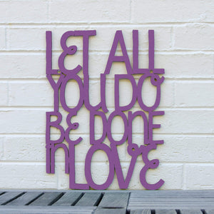 Spunky Fluff Proudly handmade in South Dakota, USA Medium / Purple Let All You Do Be Done In Love