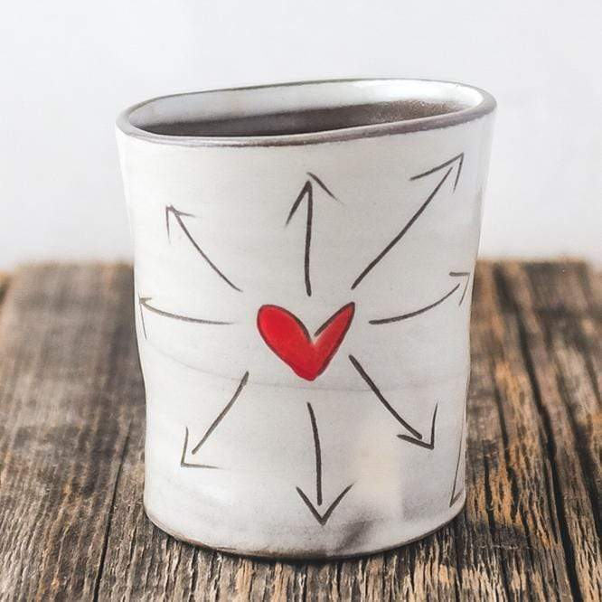 "ZPots Home Accents ""Love All Ways"" Love All Ways Ceramic Cup"