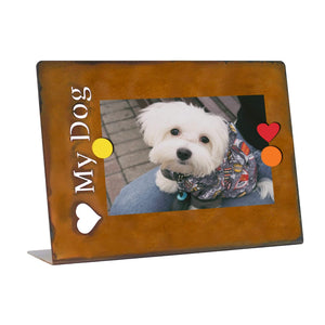 "Prairie Dance Proudly Handmade in South Dakota, USA ""Love my dog"", Magnetic Frame"