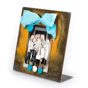 Prairie Dance Proudly Handmade in South Dakota, USA Turquoise Ribbon Magnetic Frame Square with Ribbon