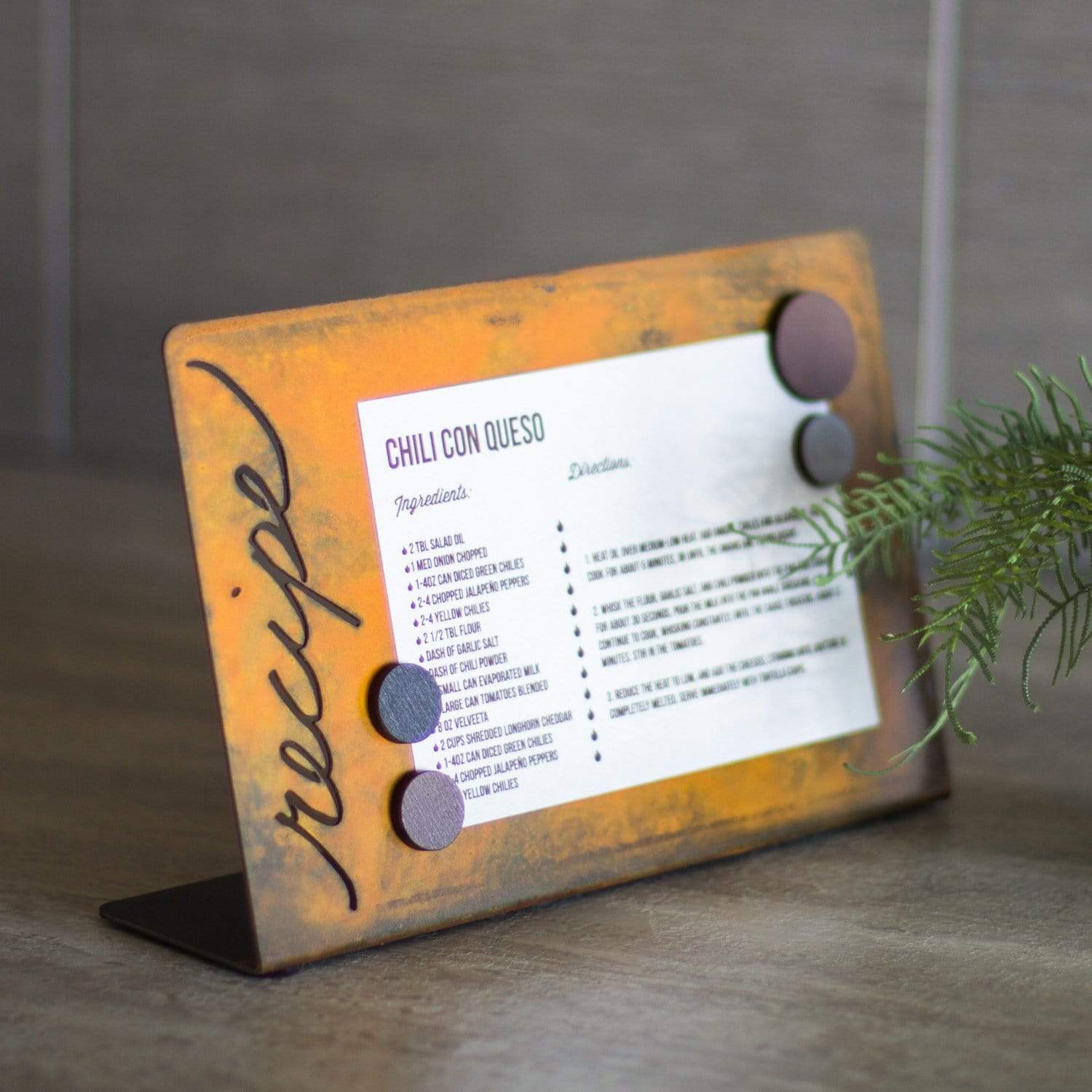 Prairie Dance Proudly Handmade in South Dakota, USA Magnetic Recipe Holder – Horizontal Orientation
