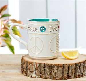 Studio M Proudly Handmade in Missouri, USA Painted Peace Handcrafted Mugs