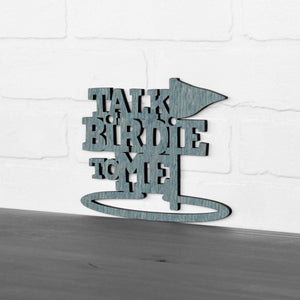 Spunky Fluff Proudly Handmade in South Dakota, USA Small / Weathered Denim Talk Birdie To Me