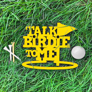 Spunky Fluff Proudly Handmade in South Dakota, USA Small / Yellow Talk Birdie To Me