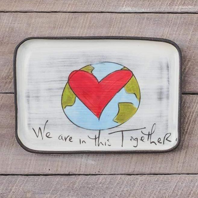 "ZPots Home Accents ""We Are In This Together"" We Are In This Together Ceramic Rectangle Plate"