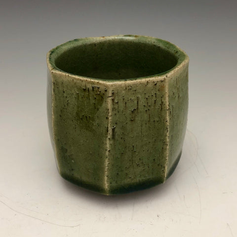 Tea Bowl with Green Crackle Glaze - TB18