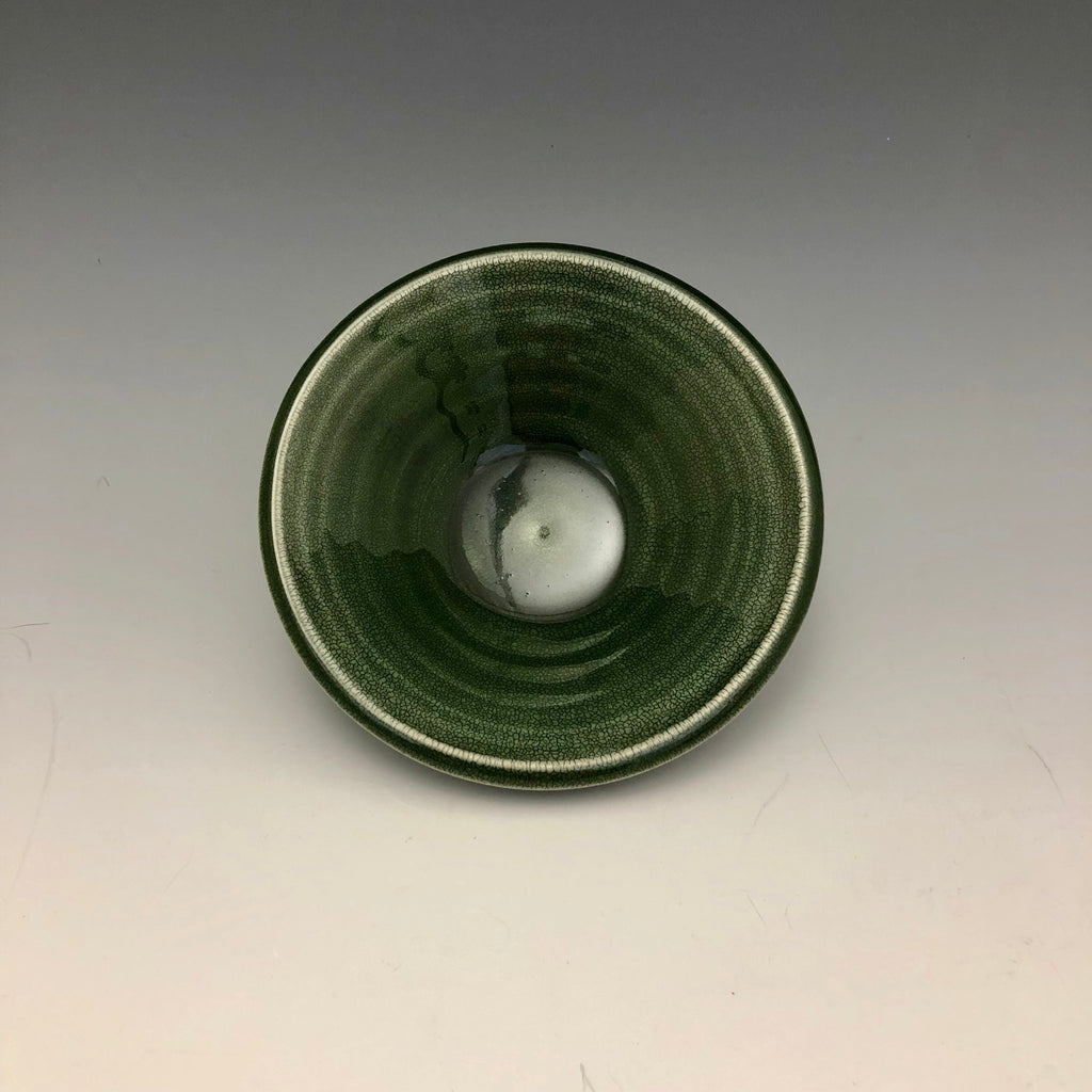 Green Crackle Glaze Dish - DS7