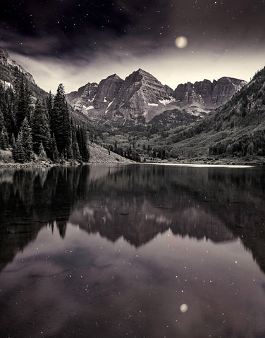Twilight, Maroon Bells - Framed FP53