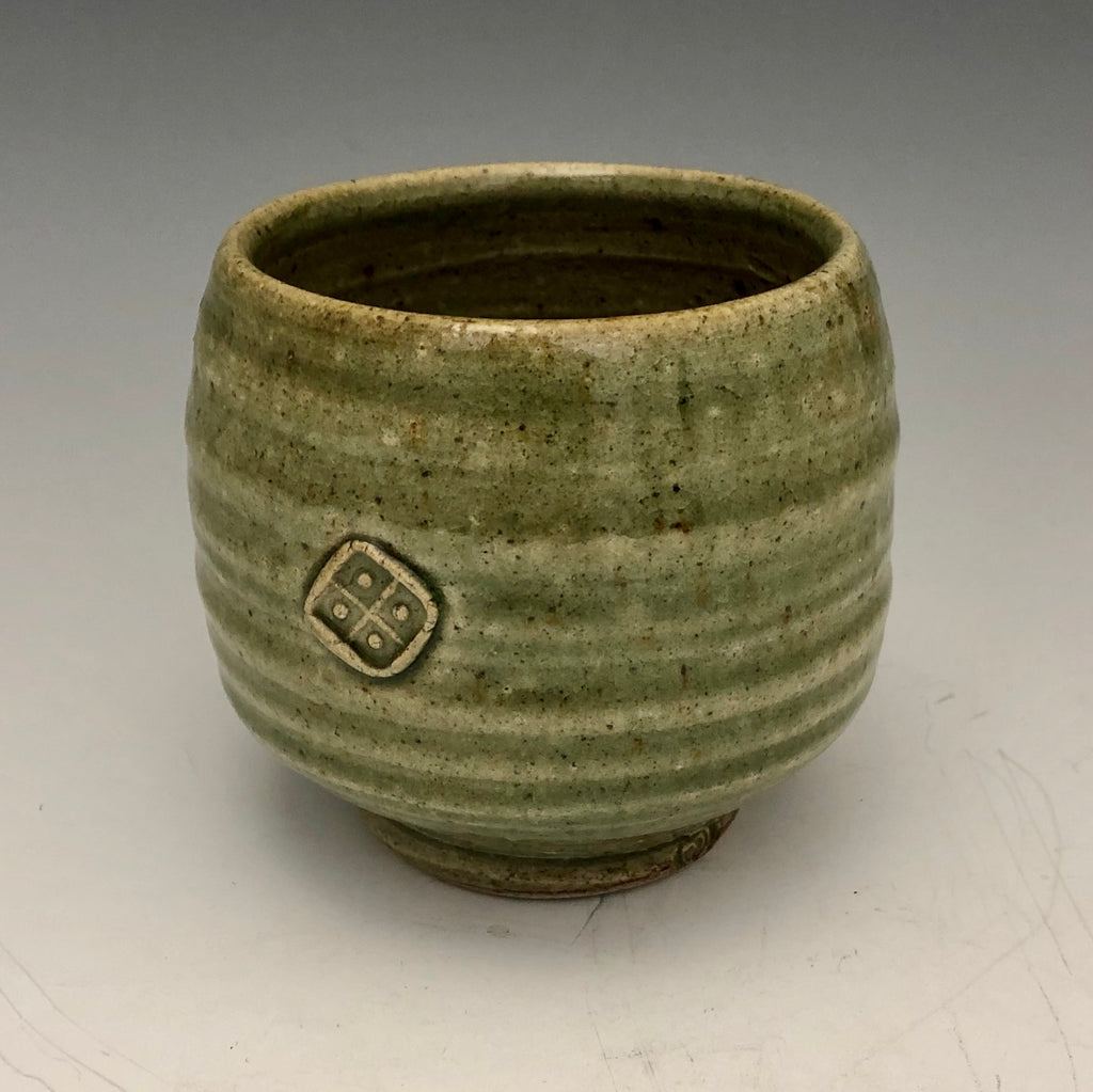 Tea Bowl with Green Glaze - TB17