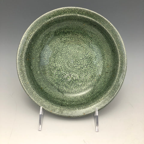 Green Crackle Glaze Dish - DS5